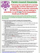Parish Councillors Vacancies